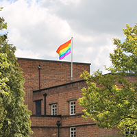 Risedale College and LGBT flag